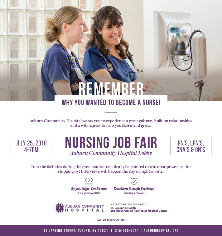 Nursing Job Fair July 25, 2018